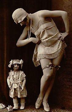 Flapper in her undies                                                                                                                                                     More