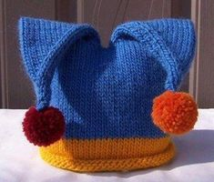 Knitted baby and child hat - Knitting, Crochet Love Crochet Baby Hat Patterns, Baby Sweater Knitting Pattern, Baby Hats Knitting, Crochet Baby Hats, Loom Knitting, Hand Knitting, Knitted Hats, Filet Crochet Charts, Maila
