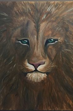 Acrylic lion on canvas