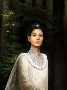 ~ The Silmarillion, Of Eldamar and the Princes of the Eldalië. (Artwork: Aredhel Ar-Feiniel, by moon blossom)