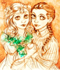 Ozma and Dorothy by MistyTang.deviantart.com