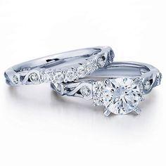 1-3/4 CT. T.W. Diamond Bridal Set in 14K White Gold - Zales