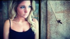 Small sideways cross necklace. Available in gold or silver