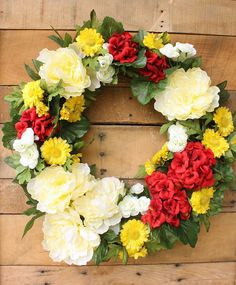 Cottage Wreath ~ Peo