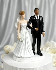 Biracial wedding topper! This is cute! Does it come in pasty and slightly less pasty? Lol