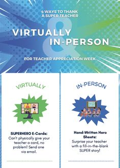 The last year has been particularly tough on our educators. Here are a few ways to thank your SUPER-Teachers, whether you're in person or virtual. #SchoolMint #ThankaSUPERTeacher #Acknowlegmints #TeacherAppreciationWeek Teacher Appreciation Week, Science Education, Your Teacher, Earth Science, E Cards, Evolution, Infographic, School, Infographics