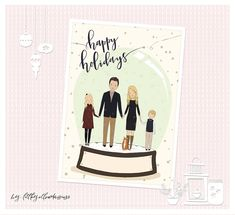 Family Christmas Cards, Connect, Portraits, Group, Boutique, Digital, Board, Handmade Gifts, Holiday