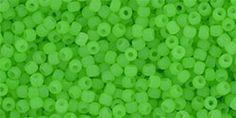 TR-11-Y454 Round 11/0 : HYBRID Neon Green