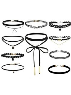 Vintage Velvet 10 Different Styles Ribbon Choker Necklace