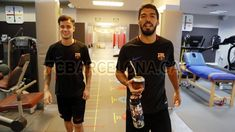 Philippe Coutinho meets his new team-mates - FC Barcelona