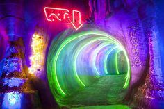 AV Systemintegration, Scenic Lighting for Dark Ride Attraction 'Arthur in the Minimoys Kingdom' @ EuropaPark Rust (Germany) // www. Attraction, Neon Signs, Lighting, Dark, Travel, Design, Viajes, Light Fixtures, Lights