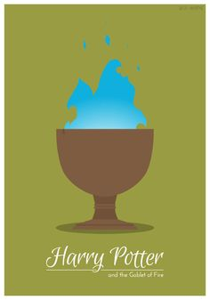 4. Harry Potter and the Goblet of Fire    ---   All image credits: Jessica Martinez. Animated GIFs are not supported in some social networks. You may need to open them in the original post.  7 minimalist Harry Potter animated book covers-