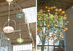 Cool lamps display designed by Piet Hein Eek. via Famille Summerbelle