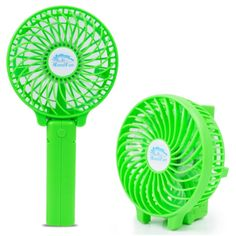 [$4.94] HF-308 Mini Rechargeable Hand Held Foldable Fan, without Battery(Green)