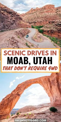 If you're looking for things to do in Moab Utah on a road trip you have to check out these itineraries which include hikes arches dinosaur tracks petroglyphs and more! Moab Utah, Utah Hikes, Road Trip To Colorado, Road Trip Usa, Zion National Park, National Parks, Dinosaur National Park, Utah Camping, Utah Adventures