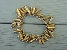 beautiful bullet bracelet made with the shells of .22 caliber bullets @Katie Russell and friendship bracelets!