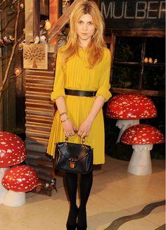 Mustard dress.