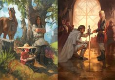 From Ser Duncan the Tall and his squire Egg, to Lord Commander of the Kingsguard Ser Duncan the Tall and KING Aegon V by Hazeem Ameen