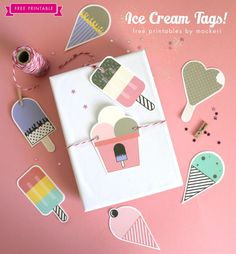Perfect for summer - free printable ice cream tags. Find more free printables here: http://www.pinterest.com/hre/free-printables/