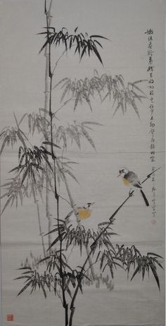 CHinese traditional bamboo painting Chinese Painting, Chinese Art, Chinese Patterns, Flower Paintings, Traditional Paintings, Famous Artists, Asian Art, Oriental, Backgrounds