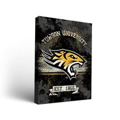 """Victory Tailgate NCAA Banner Framed Graphic Art on Wrapped Canvas NCAA Team: Towson University Tigers, Size: 48"""" H x 36"""" W x 1.5"""" D"""