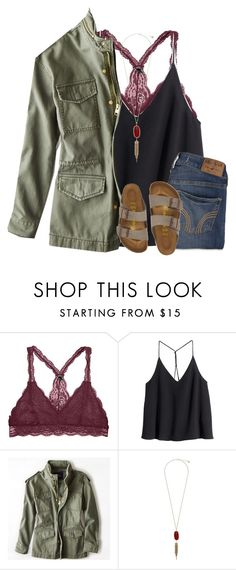 """""""Kinda like this outfit"""" by pineappleprincess1012 ❤ liked on Polyvore featuring H&M, American Eagle Outfitters, Kendra Scott and Hollister Co."""