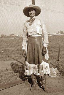 Bertha Kaepernik Cheyenne Frontier Days First Cowgirl Saddle Bronc Rider (Jon Kain's great great aunt)