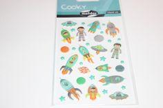 Sticker - Sticker  Cooky Rakete & Astronaut - ein Designerstück von madonner bei DaWanda