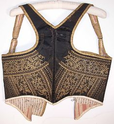 Antique Alsace France Folk Costume Corset Corselet Vest