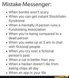 I laughed at the Stockholm Syndrome one. I'm so sorry.