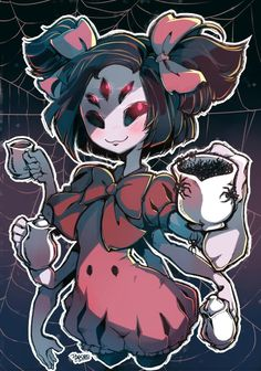 Muffet Pours you a cup of Spiders by Parororo on DeviantArt