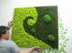 Пов'язане зображення Moss Wall Art, Moss Garden, Vertical Gardens, Diy Canvas Art, Greenery, Lab, Planters, Kids Rugs, Outdoors