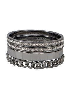 Maggie Bangle Bracelet Set Gunmetal Bracelet Set, Bangle Bracelets, Bangles, Her Smile, Muse, Rings For Men, Collection, Jewelry, Jewellery Making