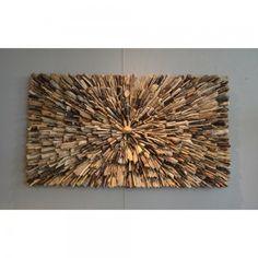 Wandpaneel driftwood 'oog' DW08A