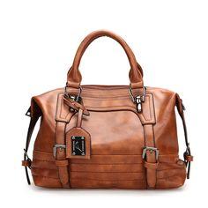 4586cc52dd70 Women Retro Oil Wax Faux Leather Tote Bag Crossbody Bag is designer