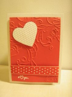 homemade valentine cards | Homemade Valentine's Card | Craft Stamps Central