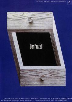 The Trial by Hans Hillmann Romy Schneider, Robert Bresson, Identity Art, Band Logos, Visual Communication, Graphic Design Art, Art Direction, Photo Galleries, Typography