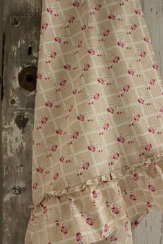 Lovely French faded floral fabric material ~ ideal for vintage homes ~ beautifully faded to perfection ~   www.textiletrunk.com
