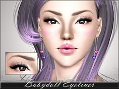 Babydoll Eyeliner by Pralinesims - Sims 3 Downloads CC Caboodle // http://ossims3oficial.tumblr.com/