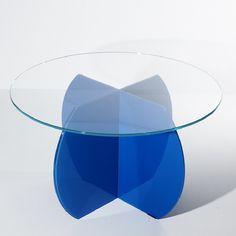 Blue circular table