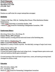 in post this time we will give a example about sample of director of example of journalist resume that will give you ideas and provide a reference for your