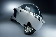 The Peraves Monotracer is a fully enclosed motorbike featuring a sporty, aerodynamic appearance and low fuel consumption. The Peraves Monotracer is a new, updated and more attractive version of the Swiss-made Ecomobile.