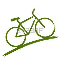 Green bike Stock Vector