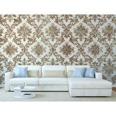 Papier peint rétro sera un complément parfait dans chaque intérieur moderne #papierspeints #fleurs #rétro #intérieur #appartement #arrangement