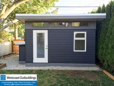 9' x 14' Lifestyle Backyard Office (Massage Studio)  Clerestory, Modern Shed, Modern, Contemporary, Backyard Office