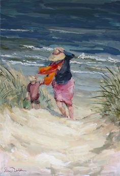 Oil Painting Supplies, Oil Painting Techniques, Painting People, Figure Painting, Paintings I Love, People Art, Beach Art, Portrait Art, Painting Inspiration