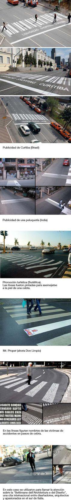Publicidad en pasos de peatones