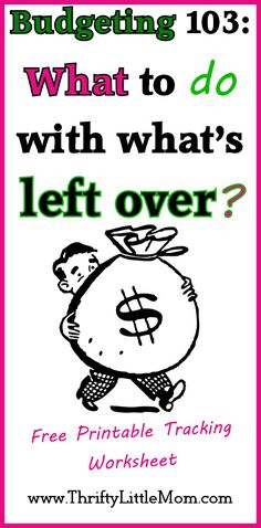 Budgeting Monthly Expenses? The last step in your monthly budget process is figuring out what to do with what's left over or NOT left over.
