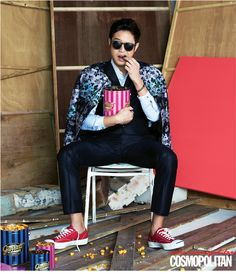 popcorn :: Chun Jung Myung for Cosmopolitan, March 2013