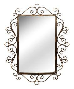 Look at this #zulilyfind! Elegant Scroll Wall Mirror #zulilyfinds
